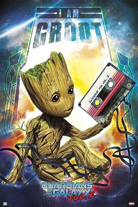 Guardians Of The Galaxy - Groot Poster, Plakat | 3+1