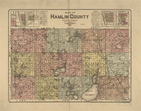 Map of Hamlin County, South Dakota : compiled and drawn