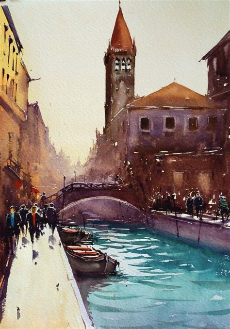 Watercolor by Joseph Zbukvic - Art People Gallery