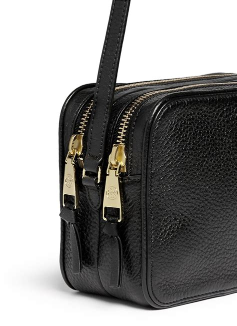 Tory Burch 'robinson' Double Zip Leather Crossbody Bag in